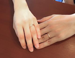 重ね付けが素敵なマリッジリング(結婚指輪)は銀座ジュエリーサロンでオーダーした。