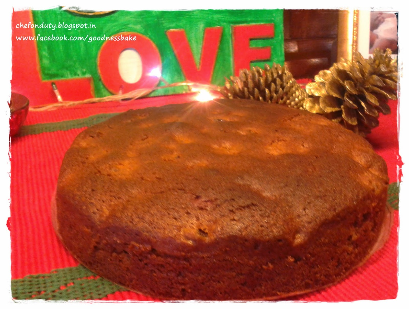 Chef on duty The Amateur Cook Christmas Cake