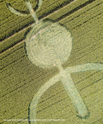 Stanton Bridge, nr Alton Barnes Wiltshire. Reported 8th July possible fake crop circle non alien
