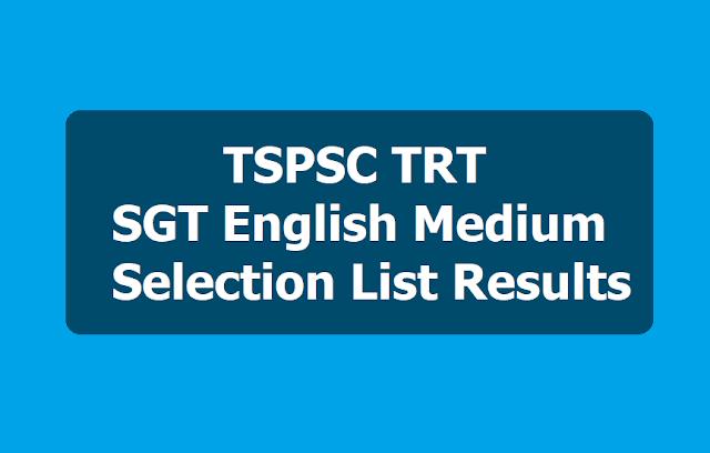 TSPSC TRT SGT Results