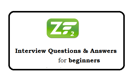 Zend Framework 2 Interview questions and answers for beginners