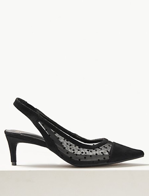 marks and spencer kitten heel slingback court shoes