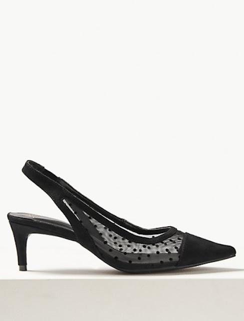 marks and spencer kitten heel slingback court shoes