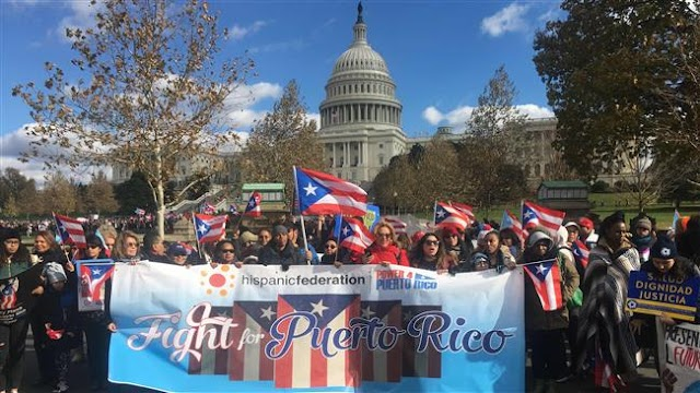 DC protesters march in unity with hurricane-hit Puerto Rico