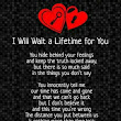 I Will Wiat a Lifetime for You | Beautiful Love Poem | Diary Love Quotes