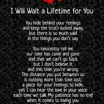 I Will Wait A Lifetime For You Beautiful Love Poem Diary Love Quotes