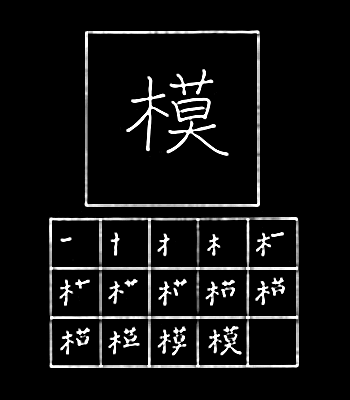 kanji schematic, pattern