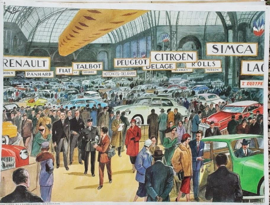 Manuels anciens affiche salon de l 39 automobile - Affiche salon de l auto ...