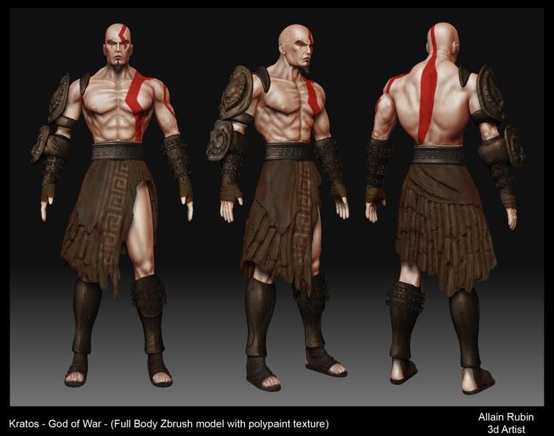 Allain Rubin Portfolio Kratos God Of War