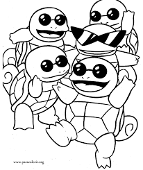 Squirtle coloring page 4
