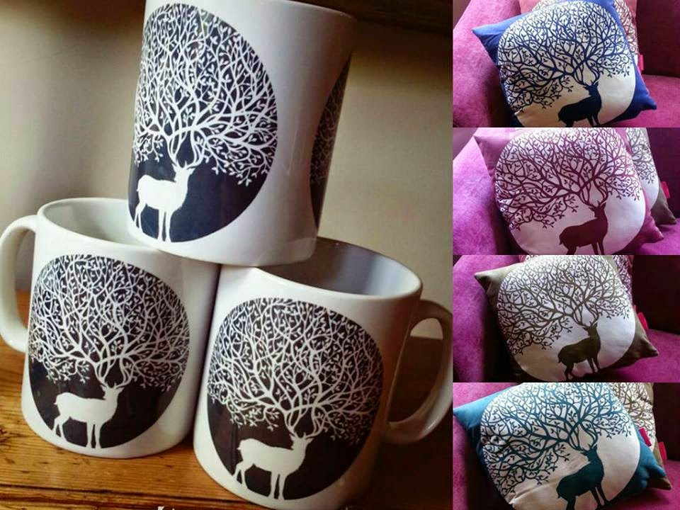 paper panda mugs and cushions
