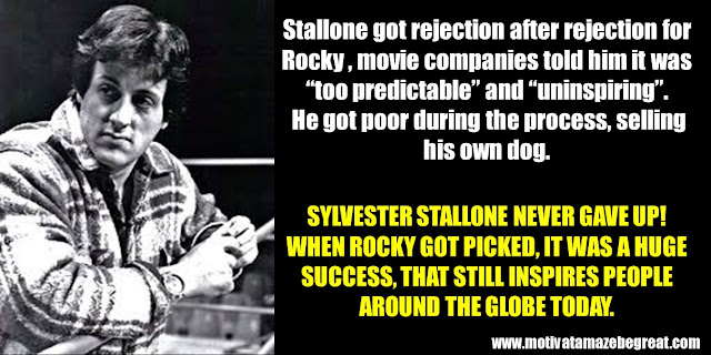 Successful People That Failed: Sylvester Stallone, Rocky, selling dog, turned down, uninspiring movie