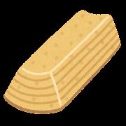 バウムクーヘンのイラスト(スティック状)