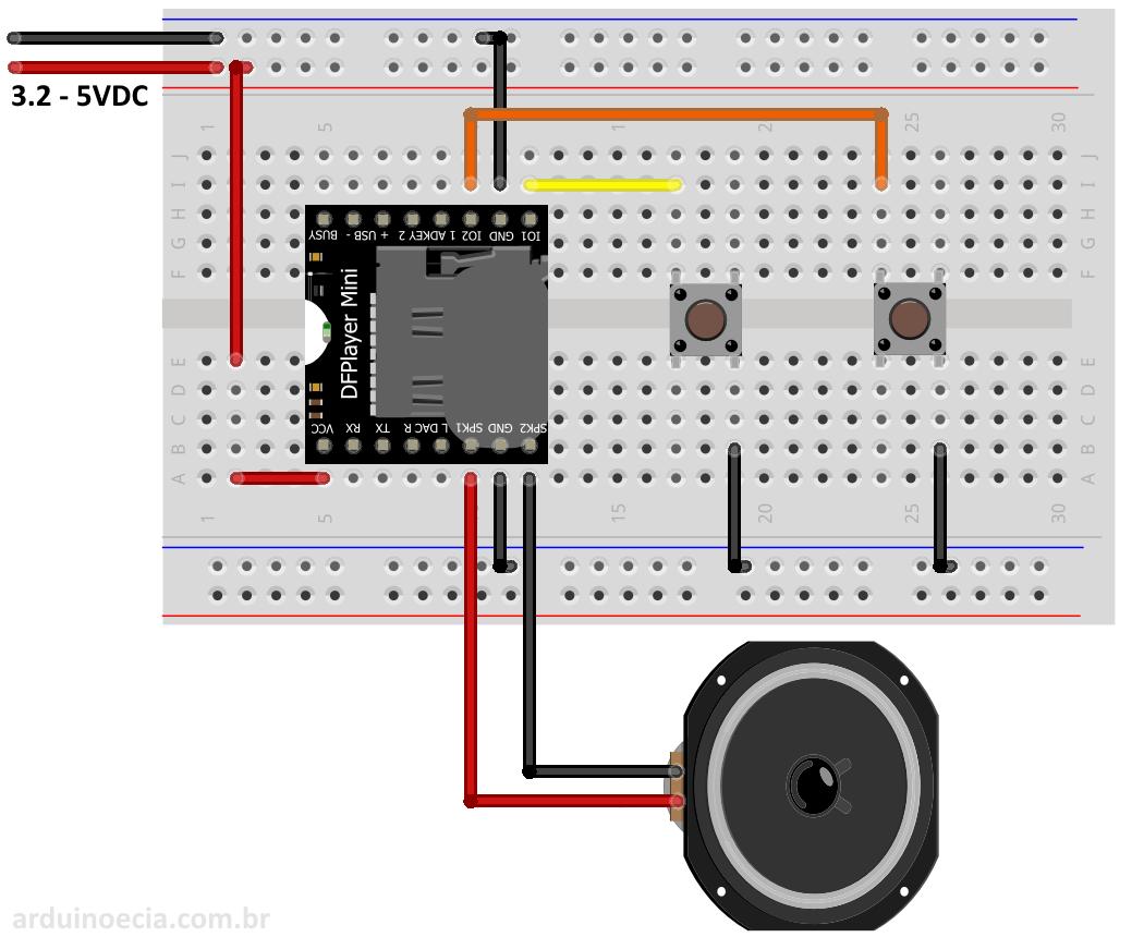 Como usar o módulo mp dfplayer mini arduino e cia