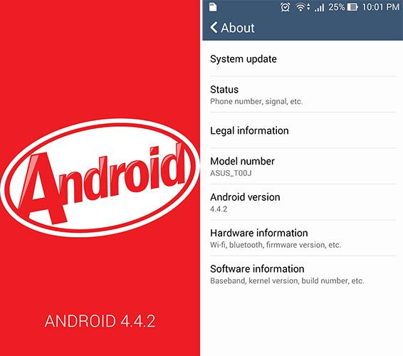 Hướng dẫn hạ cấp từ Android L xuống Kitkat 4.4.2 cho Zenfone 5