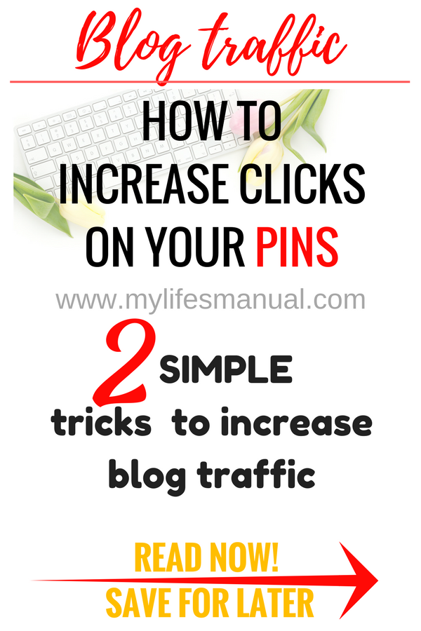 How to increase your page views using Pinterest. Increase your click-through rate on Pinterest. How to make people click on your pins.