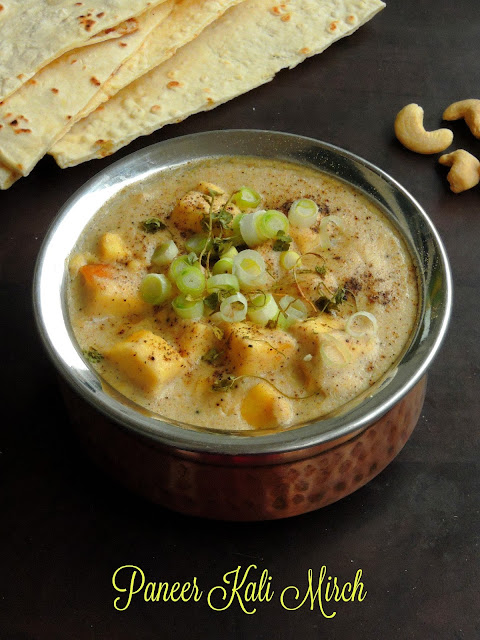 Paneer Kali Mirch, Cottage Cheese in pepper gravy