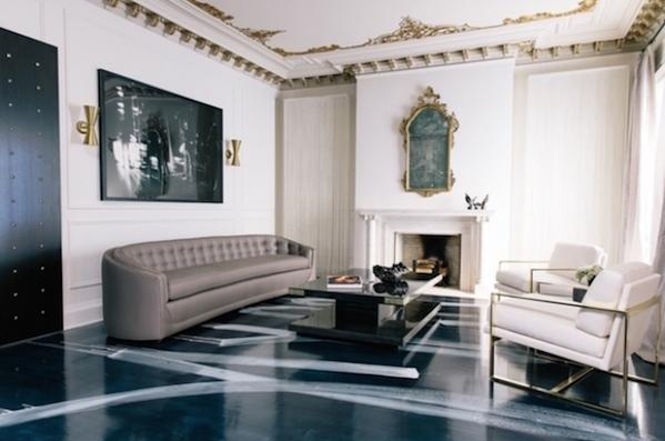 Bon Painted Floors , Patterned Floors Ideas, Artistic Strokes Painted On Black  Glossy Floors