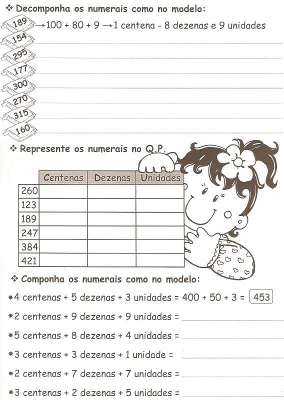 Atividades Matematica 3 Ano Fundamental Exercicios Imprimir