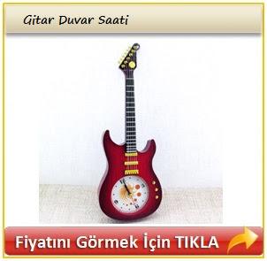 gitar duvar saati
