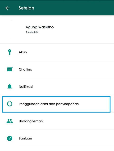 Cara mematikan Fitur Download Otomatis di WhatsApp Messenger