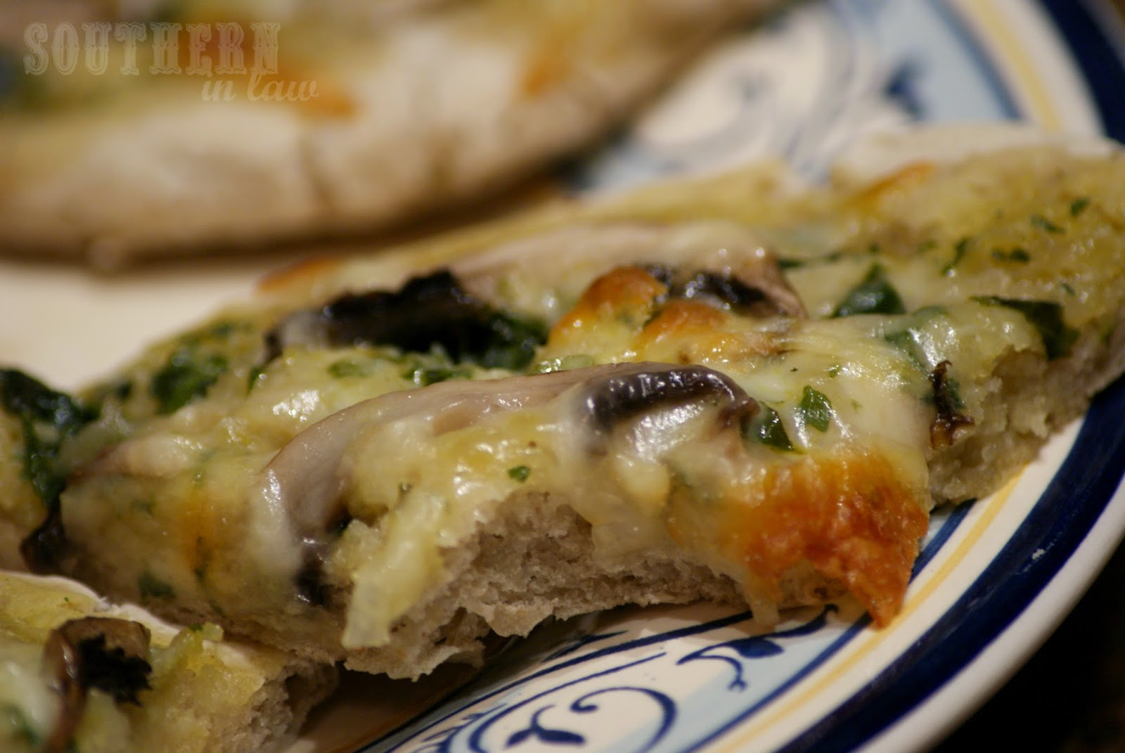 Garlic Herb and Mushroom Pizza