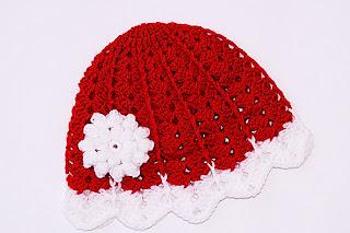 Gorro a juego con el vestido de navidad a crochet 2