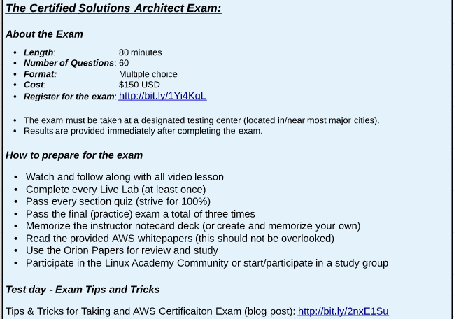 Exam Cram Notes & Other Stuff: Notes on: Linux Academy: AWS CSAA: 21 ...