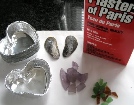 easy plaster craft hearts