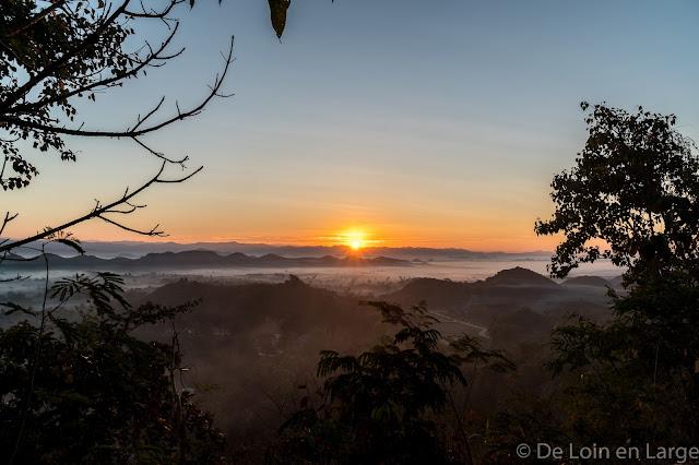 Vue Pagode Shwetaung-Mrauk-U-Birmanie-Myanmar