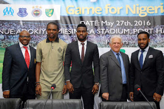 Enyeama, Emenike land in Nigeria for Yobo testimonial