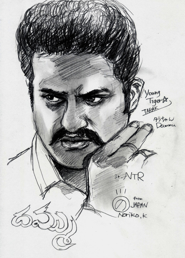 Ntr Dammu Sketch By Japan Fans - TeluguCinemas.in   Telugu ...