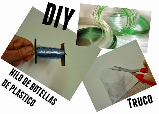 hilo de botellas de plastico, reciclar, manualidades