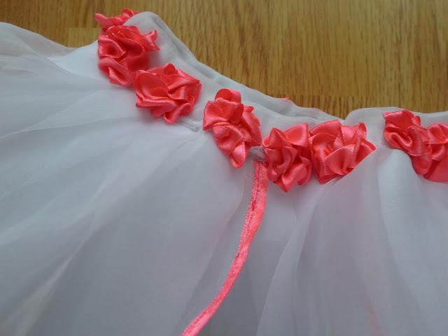Spódniczka KWIAT z różyczkami DIY // Skirt FLOWER with roses DIY