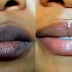 Make your lips white  by using a single page