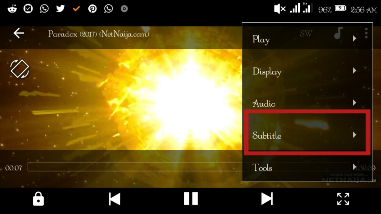 How to subtitle a movie using mx player app 2018 tricks androbliz now tap on online subtitle to get it from the internet ccuart Image collections