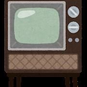 昔のブラウン管テレビのイラスト