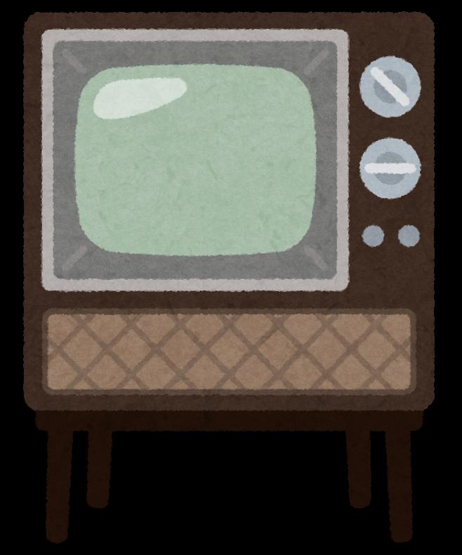 昔のブラウン管テレビのイラスト かわいいフリー素材集 いらすとや