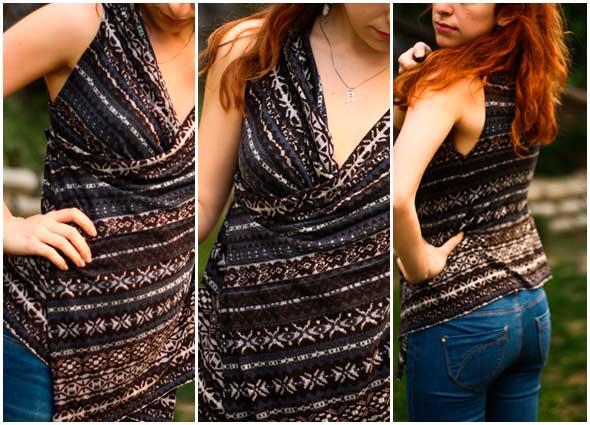blusa, asimetrica, costura, bricomoda, patronaje