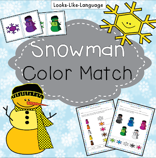 Get this open ended snowman themed freebie from Looks Like Language!