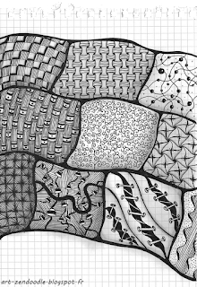 zenddoodle, zen doodle, zentangle, pattern killing time