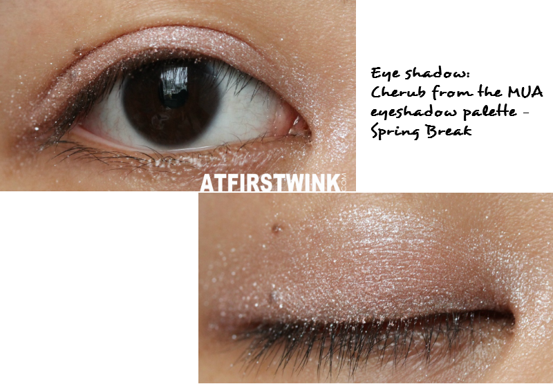 Cherub MUA eyeshadow palette - Spring break glitter pink