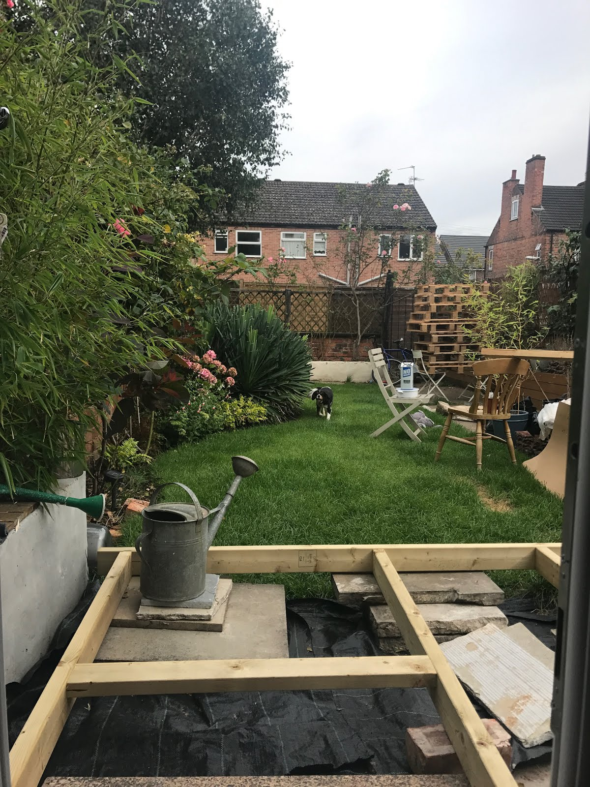 Using Paving Slabs to prop up decking