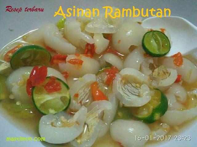 Resep cara membuat Asinan Rujak buah Rambutan Spesial 2018