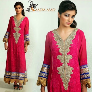 Sadia Asad winter formal dress-2014