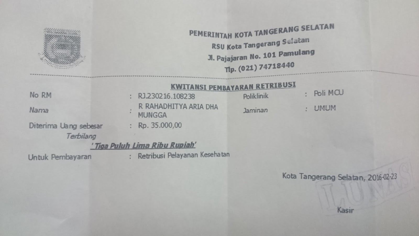 Membuat Surat Keterangan Bebas Narkoba Di Rsud Tangerang Selatan