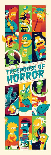 """Treehouse of Horror 3"" The Simpsons Screen Print by Dave Perillo x Dark Ink Art x Acme Archives Direct"