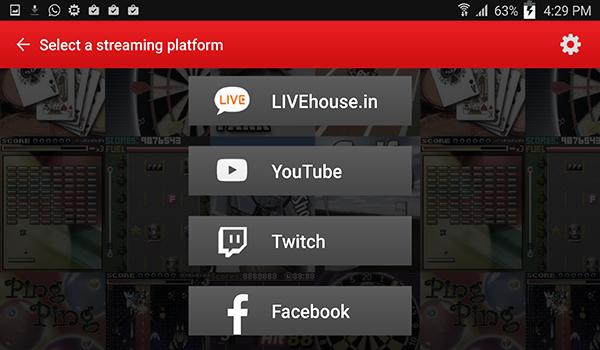 a90775265 تختار خيار البث المباشر للالعاب Live Mobile Game من خلال هذا الخيار ستظهر  لك الان شبكات التواصل الممكن ان تقوم بعمل بث مباشر عليها للالعاب من شاشة  جوالك ...