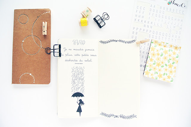 30 jours challenges créatifs - Traveler's Notebook - Papier et Moi