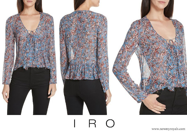 Princess Marie wore IRO Gosh Floral Print Blouse